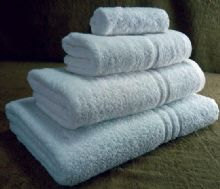 Fantastic Value, Black Label 420gsm Ring Spun Bath Towel in White